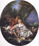 Francois Boucher Shepherd and Shepherdess oil painting picture wholesale